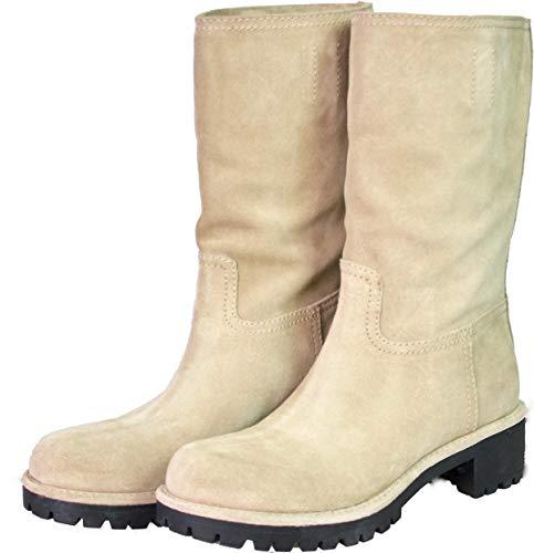 Prada Damen Beige Leder Stiefel 3U5901 053 F0036 39 EU