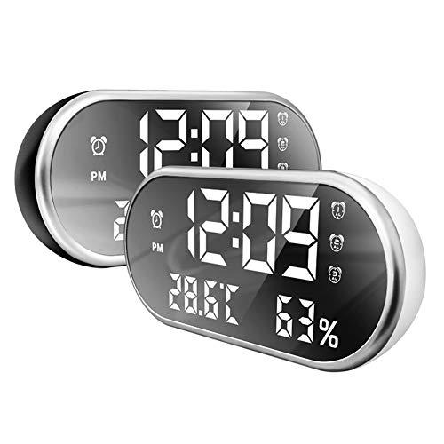 LICHUXIN Uhr Innen-Wetterstation Temperatur eingestellte Weckzeit mit der Bildschirmanzeige Wetter forcecast kann Küche Kinderzimmer USB Leben Ladekabel