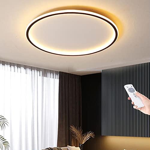 Lámpara de techo LED regulable control remoto redonda para sala de estar dormitorio minimalista moderna pantalla hecha acrílico luz de techo cocina oficina iluminación interior araña,50cm