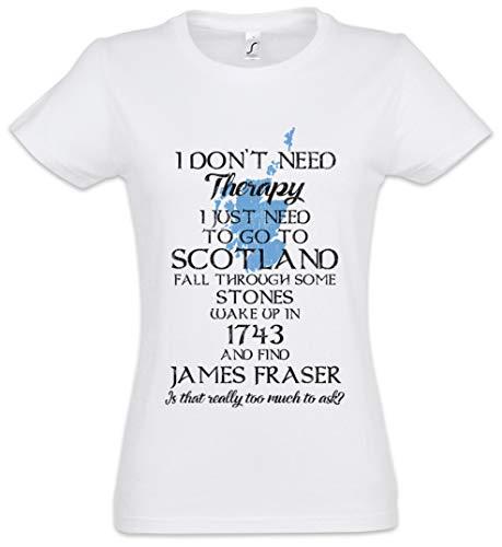 Urban Backwoods I Don't Need Therapy Camiseta de Mujer Women T-Shirt Blanco Talla XS