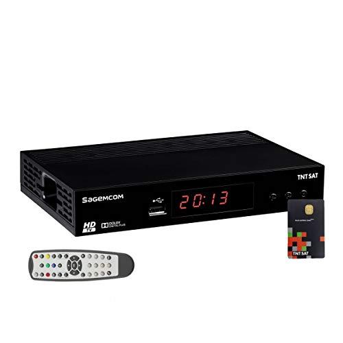 SAGEM - Receptor satélite HD Astra N° 1 + tarjeta TNTSAT V6 canales TNT...