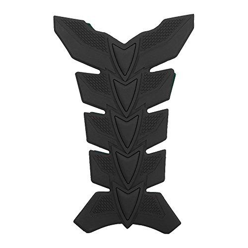Almohadillas adhesivas para depósito de moto, gel 3D para aceite, gas, diseño de espina de pez, color negro