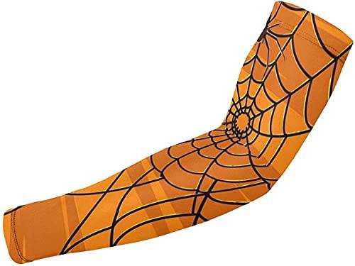 Blue-shore Volleyball-Armmanschette  Sonnenschutz Arm Ärmel Spinnennetz Arm Ärmel Für Basketball,Laufen und Herren Damen-Weiß-Einheitsgröße