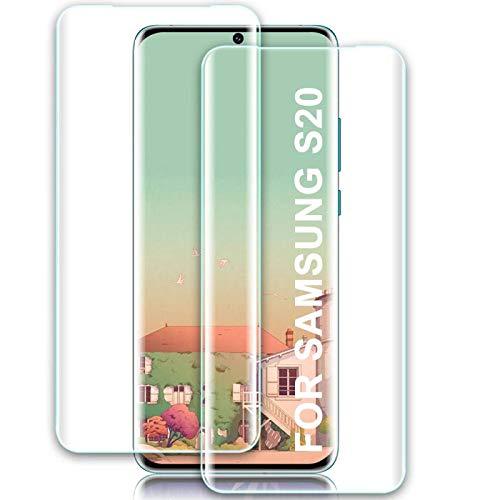 BILLONE Panzerglas Kompatibel mit Samsung S20, [2 stück] S20 Panzerglas HD Displayschutzfolie, Anti-Kratzer, Blasenfreie, 9H Härte, Anti-Fingerabdruck Und Öl, Folie Schutzfolie für Samsung Galaxy S20