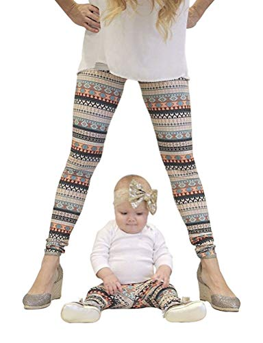 Familia Rope Mamá Navidad Impresión E Vintage Elegantes Hija Leggins Elásticos Skinny Casual Festivo Cómodo Largo Pantalon Familias Mujeres Niños Familias Mujeres Niños (Color : Amarillo, Size : S)