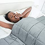 FindPanda Weighted Blanket King Size 15 pounds for Adults (78'x 85', Dark Grey), Premium Fabric with Glass Beads