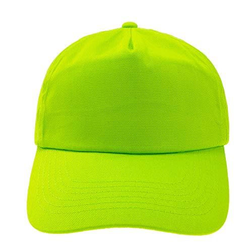 4sold - Cappellino da baseball per bambini, unisex Verde neo. Taglia Unica