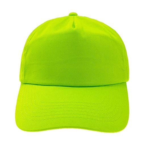 4sold Junior Original 5 Panel Cap Unisex Jungen Mädchen Mütze Baseball Cap Hut Kinder Kappe (Neo Green)