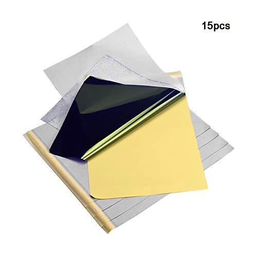 ATOMUS Tattoo Transfer Papier Koolstof Thermische Tracing Koolstof Stencil Papier Transfer Koper Papier A4 Grootte voor Tattoo Printer Machine 15pcs