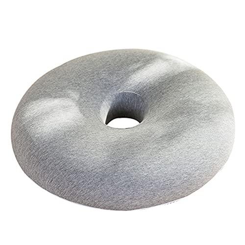 gaoxiao Cojines ortopedico Donut Almohada Cojín para hemorroides Funda de Malla Lavable Fresco y Transpirable cojin antiescaras para Silla de Ruedas -para Coche Oficina Hogar(Color:Gris)