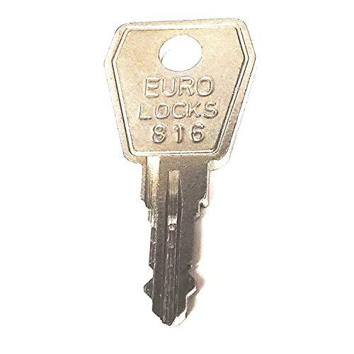 SafePost EuroLocks Ersatzschlüssel - Schließung 801 bis 1000 - Nachschlüssel - Zusatzschlüssel - für Hebelzylinder und Briefkastenschlösser - Schließung 808