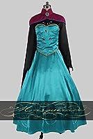 COSSKY アナと雪の女王 Frozen エルサ Elsa ドレス コスプレ衣装 cosplay イベンド 変装 仮装 プレゼント 祭り仮装 コスチューム コス 衣装 (女性S)