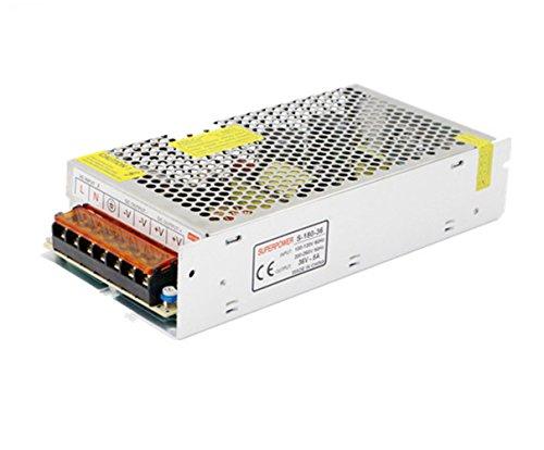 la Tira de LED Fuente de Alimentación Transformador de Potencia DC36V 5A-10A 180W-360W