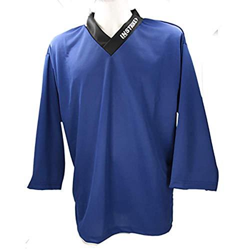 Instrike Trainings-Trikot Eishockey Spieler XS blau Jersey für Eishockey und Inline hochwertig und Funktions-Aktiv für Kinder