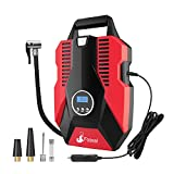 Foseal Tyre Inflator, Portable Air Compressor Car Tyre Pump with Storage Bag, DC 12V 150PSI Digital Air Pump...