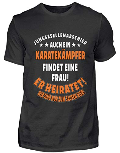 Camiseta para hombre JGA bodas Karatekämper regalo deporte divertido frase – Camiseta para hombre Negro  L