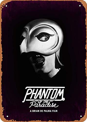 LILILILI BEFULL Plaque en métal vintage étanche Motif Phantom of The Paradise 30,5 x 20,3 cm