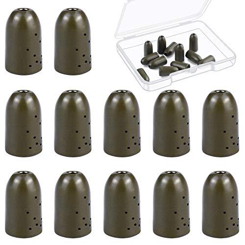 Ruisita 12 Pack Tungsten Flipping Weights Tungsten Bullet Weight...