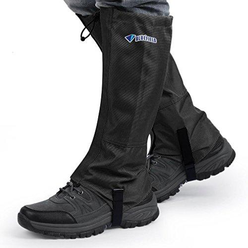 PREUP OUTAD, Ghette Impermeabili per Pantaloni da Escursione, Arrampicata, Trekking e Caccia sulla Neve (1 Paio), L Schwarz, L