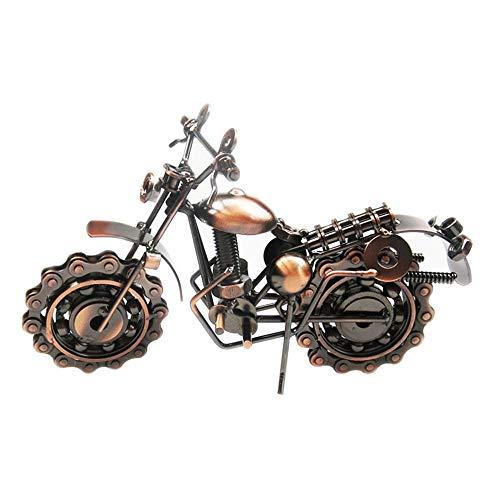 LaLa POP Bronze Simulation Motorrad Modell Home Wohnzimmer Büro Dekoration Handgemachte Eisen Handwerk Kreative Geschenke