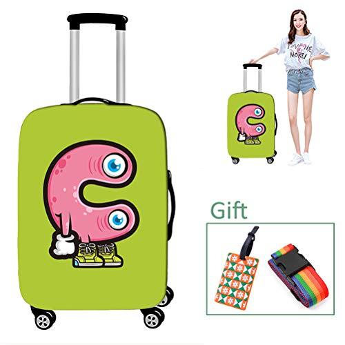 Luggage cover Kofferhülle Reisegepäck-Abdeckung Abriebfester Briefdruck Waschbar Keine verblassende Kofferabdeckung für 18-32 Zoll,C,S