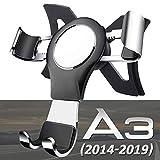 AYADA SupportTéléphoneVoiture pour Audi A3 8V S3 8V RS3 8V, Porte Telephone Audi A3 Gravity Verrouillage Automatique Aluminium Stable Mains Libres Montage Facile Accessoire Audi A3 2016 2017