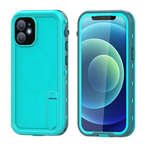 Funda para iPhone12/12 Pro/12 Pro MAX, IP68 Certificado Sumergible Carcasa, 360 Grados Protección [Antigolpes][Anti-rasguños] con Protector de Pantalla Incorporado,Blue,iPhone12ProMax