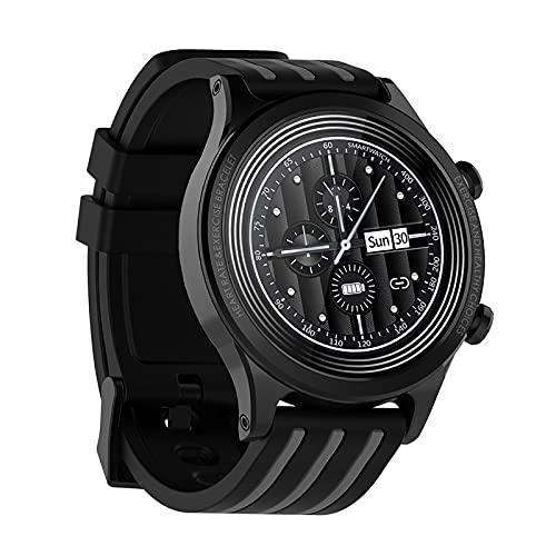 QFSLR Smartwatch Presión Arterial Ritmo Cardíaco Monitoreo del Sueño Rastreador De Ejercicios Podómetro IP67 Rastreador De Actividad GPS A Prueba De Agua para iOS Reloj Inteligente Android,Gris