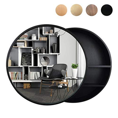 WYL Badezimmer Spiegelschrank, Massivholz Runden Badschrank mit Spiegel, Schiebetür Spiegelschrank fürs Bad, Schlafzimmer, Wohnzimmerdekoration