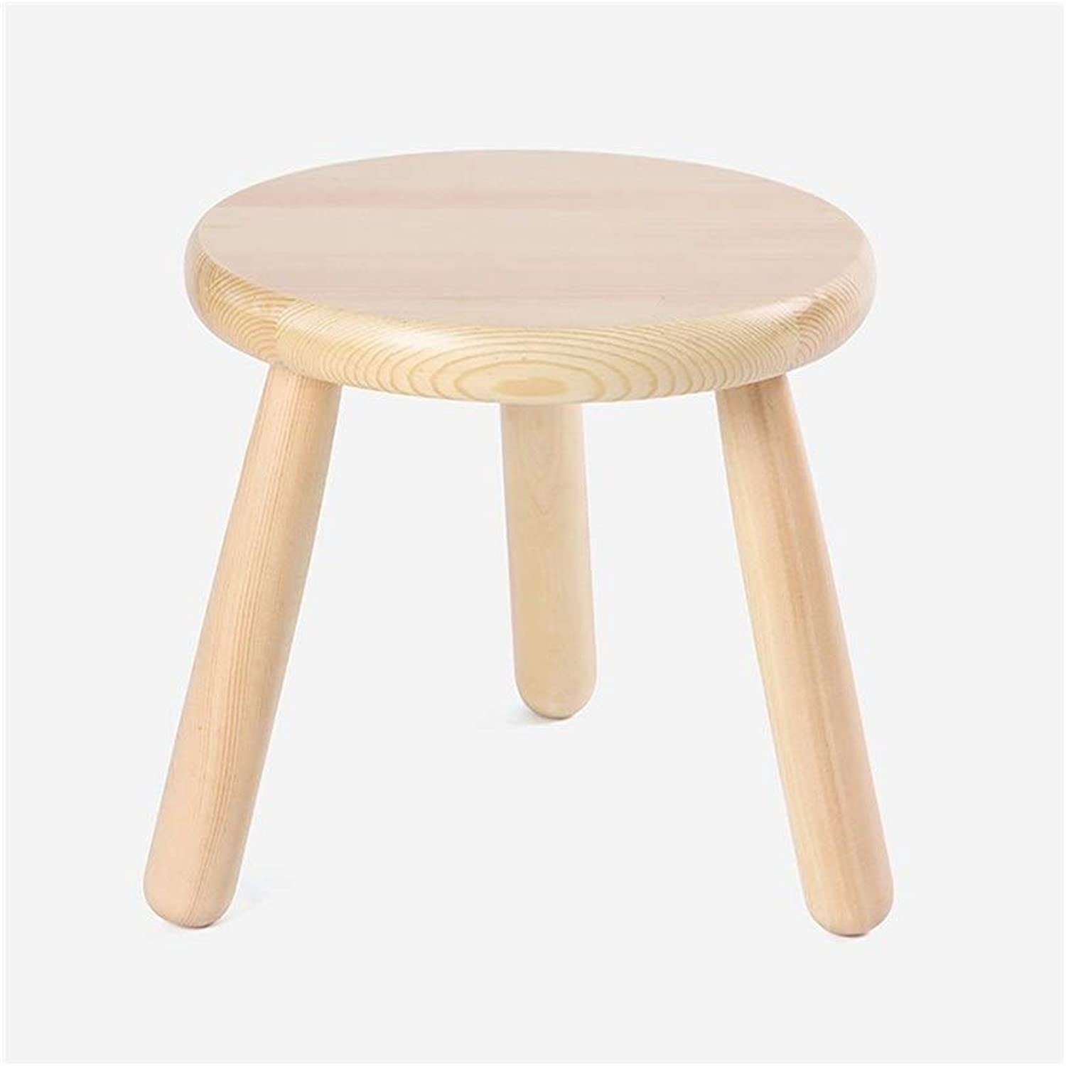 Solid Wood Creative Footstool Living Room Three-Legged Stool Doorway Changing shoes Stool 25  25 cm JINRONG (color   White)
