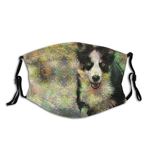 yanfind Dog Running Abstract Canine Active Action Animal pet Motion Creative Artwork Art Digital Art Dust Washable Reusable Filter and Reusable Mouth Warm Windproof Cotton Face