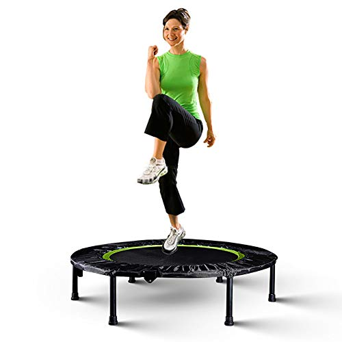 LINLIN Fitness Trampoline Indoor Mini Exercise Trampoline for Adults, Best Home Gym for Fitness & Slimming Workout Exercise Fitness Bouncer, Silent & Thick PP Jumping mat