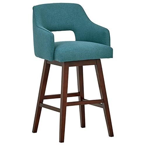 Marca Amazon -Rivet Malida - Taburete de bar con asiento giratorio y respaldo abierto estilo...