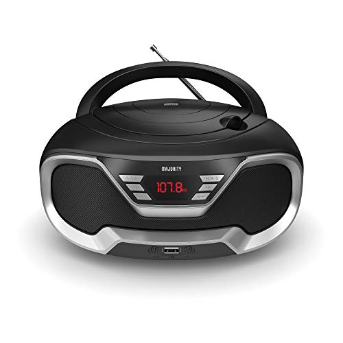 Majority Eaton Portable CD Player Boombox with Bluetooth & FM Radio, 3.5mm...