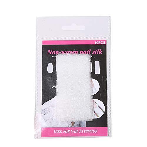 Non-geweven zijde voor nagelverlenging nagelbuilder Gel Nail Art vormen voor acryl Gel Extension Building glasvezel nagels French Manicure Nail Art tips geavanceerde gereedschappen 10 stuks.