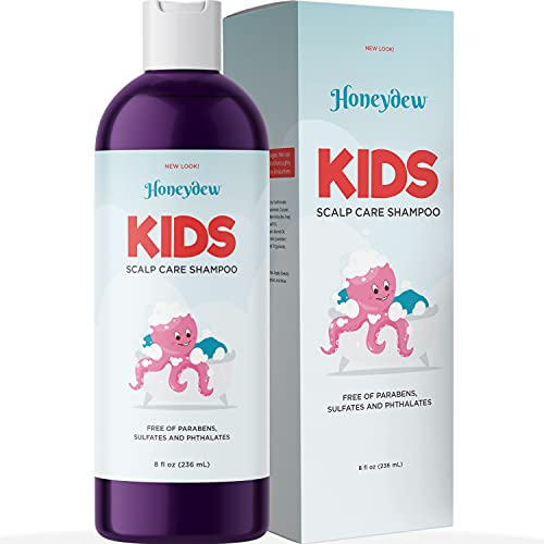 Anti Dandruff Shampoo for Kids - Best Tear Free Natural Children's Scalp Treatment with Lavender &...