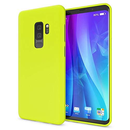 NALIA Handyhülle kompatibel mit Samsung Galaxy S9 Plus, Ultra-Slim TPU Silikon Neon Hülle, Dünnes Cover Gummi Schutzhülle Skin, Etui Handy-Tasche Backcover Smartphone Bumper, Farbe:Gelb