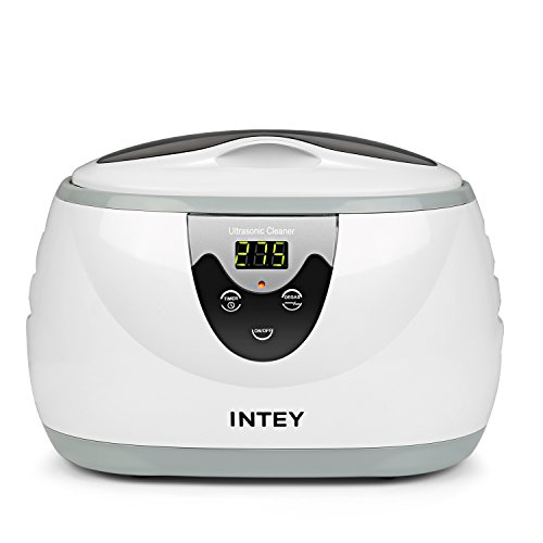 INTEY Nettoyeur Professionnel à Ultrason Numérique pour Lunettes, Bijoux, Montres, CDS, 600 ML