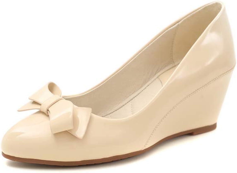 AdeeSu Womens Bows Solid Fashion Travel Urethane Pumps shoes SDC05967
