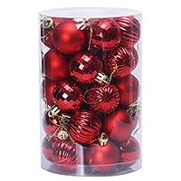 普遍的で実用的なクリスマスデコレーションボールセットお祝いの結婚披露宴のデコレーション美しいクリスマスボール(赤)