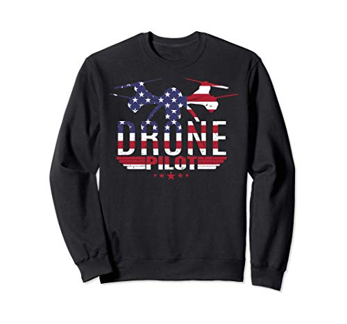American Flag RC Drone Flying Aircraft Quadcopter Pilot Gift Sudadera