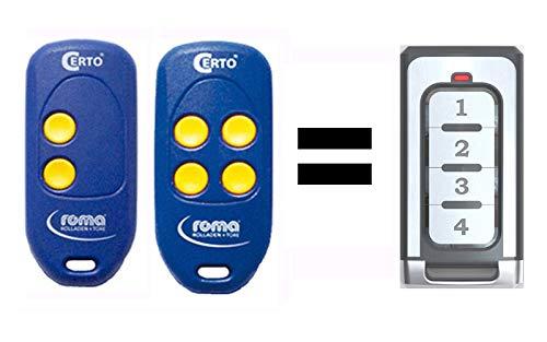 Ersatz Fernbedienung Handsender für Roma Certo 868,5 MHz MT87A3-2 MT87A3-4