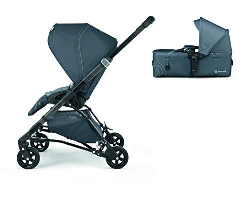 Concord Soul Baby Set Sistema Modular Silla Paseo Soul + Capazo Blando Scout, Apto desde el Nacimiento, Manillar Telescópico, Respaldo Regulable, Color Steel Grey