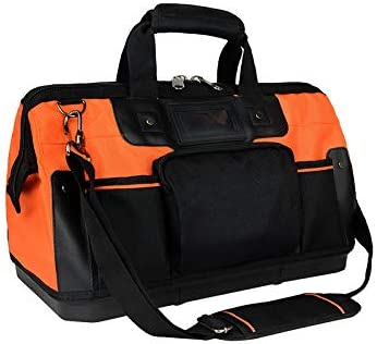 NC 16 Inch Wide Mouth Tool Bag with Shoulder Strap