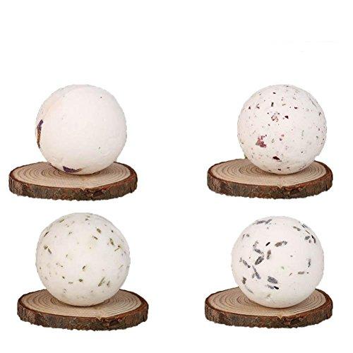 MuSheng(TM) Balles de bain Boule de massage naturel Sel de mer Lavande Bulle Gommage corporel idéal Kit cadeau idéal Balles effervescentes Spa Relaxation et hydratation