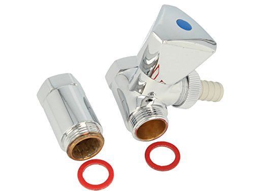 tecuro Batterie- Geräteventil Anschlußventil für Wandarmaturen Abgang Kaltwasser