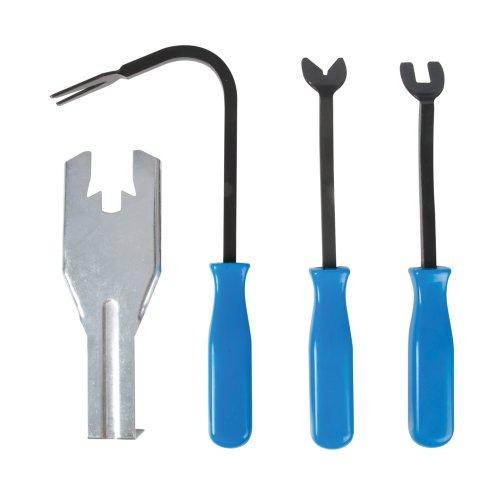 Silverline 480063 - Juego de palancas para extracción de puertas (4 piezas)