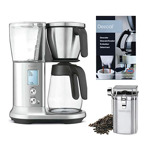 Breville BDC400 Precision Brewer Coffee Maker with Glass Carafe Plus Coffee Bean Canister and Descaler