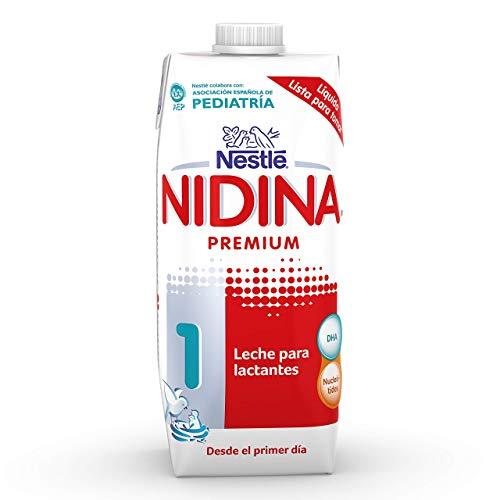 Nestlé NIDINA 1 - Leche para lactantes líquida - Fórmula Para bebés - Desde el primer día - 500ml (Pack de 12)