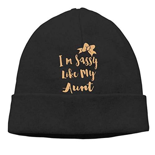 XCNGG Gorro de Punto Gorro de Lana Unisex Sassy Like My Aunt Knit Cap, Wool Beanies Cap